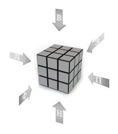 кубик рубика 3х3 схема сборки